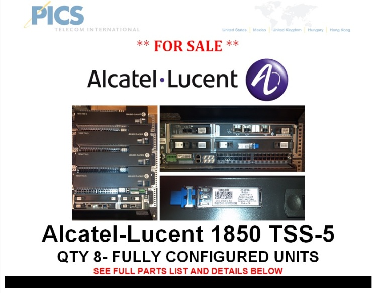 alcatellucent 1850 tss5 fully configured units for sale