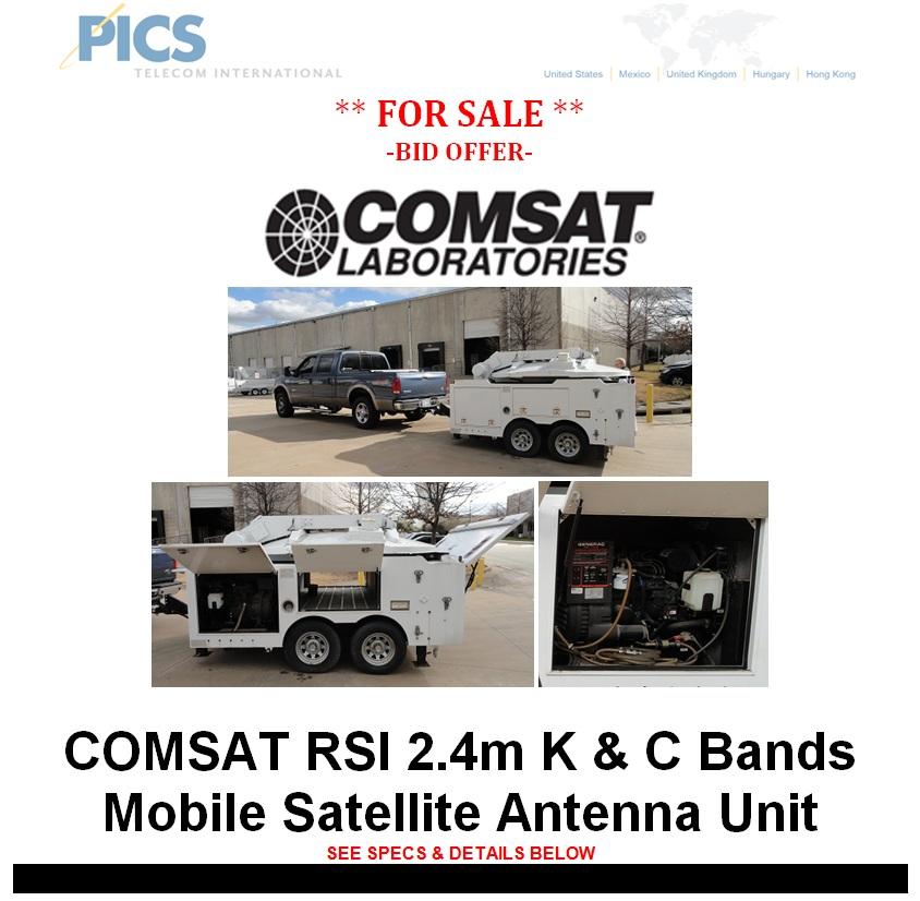 COMSAT RSI Mobile Satellite Antenna For Sale Top