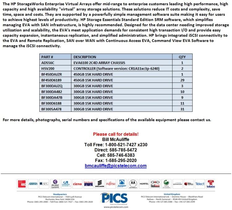 HP StorageWorks EVA6100 Array For Sale Bottom