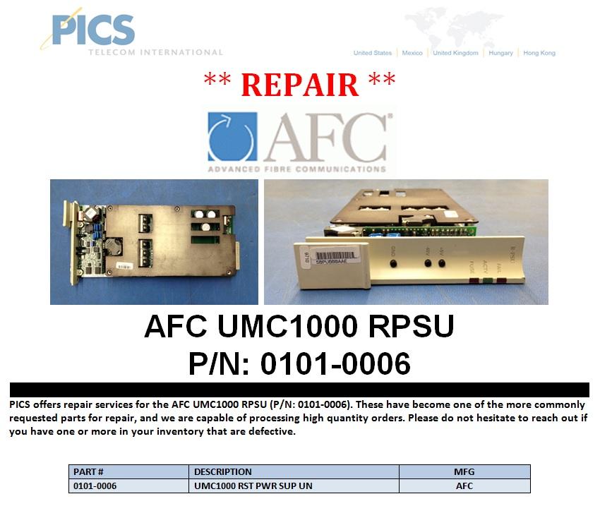 repair  afc umc1000 rpsu pn 01010006