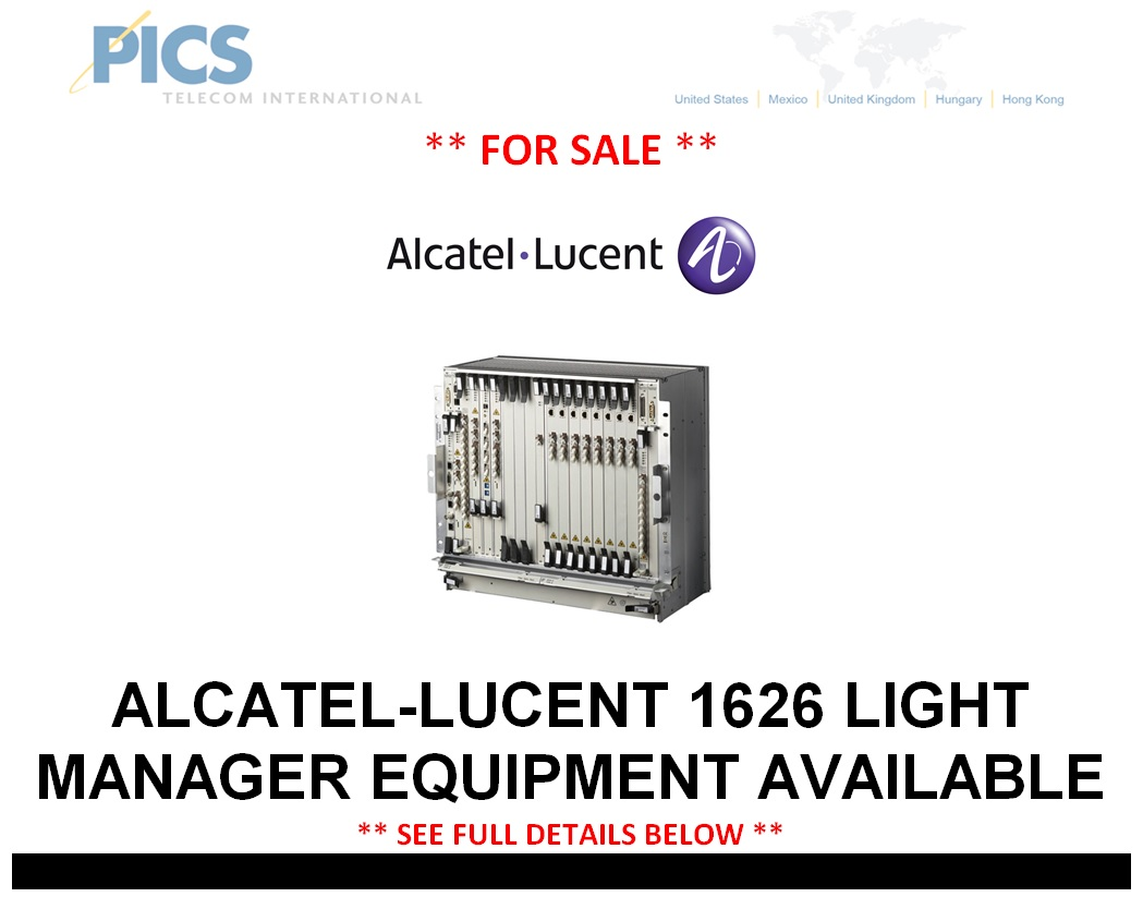 Alcatel-Lucent 1626 Equipment For Sale Top (9.3.14)