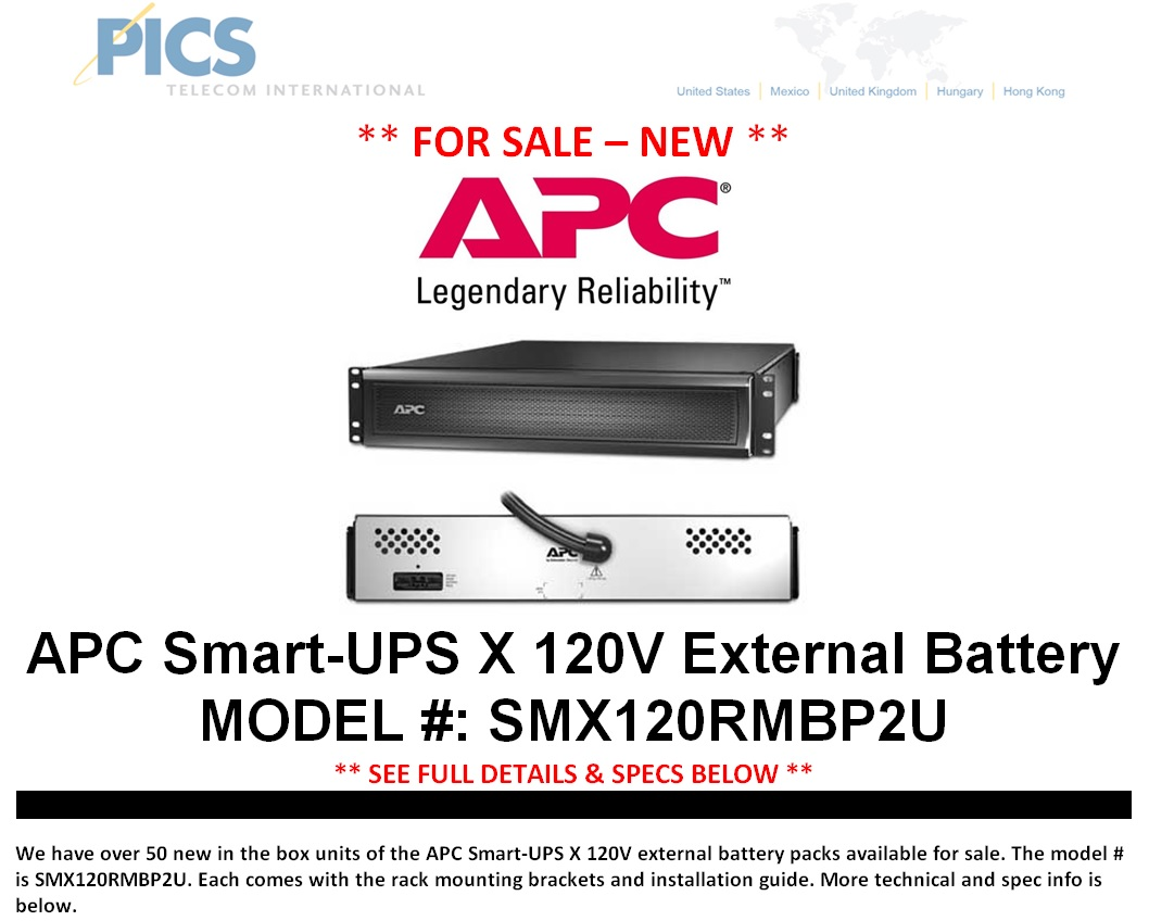 APC SMX120RMBP2U Battery Packs For Sale Top (9.10.14)