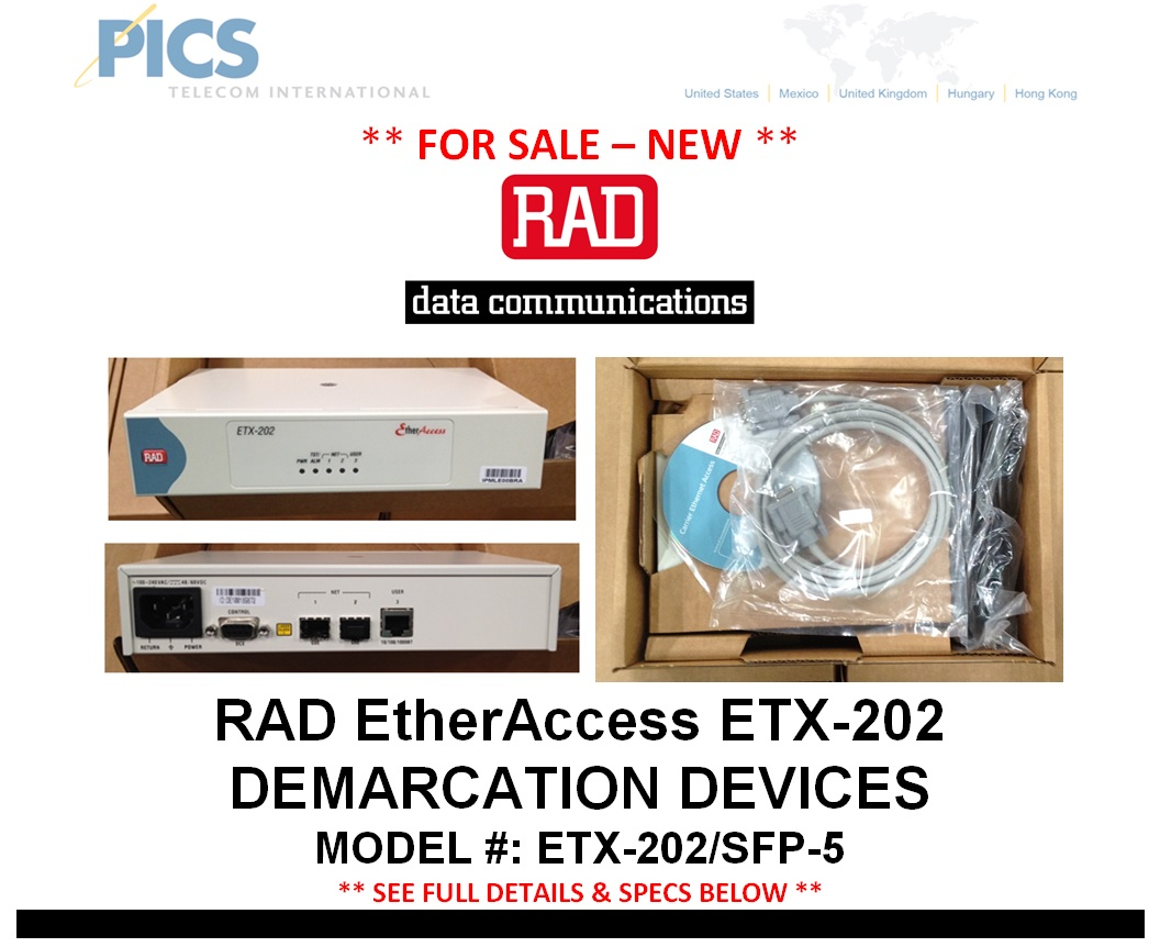 RAD ETX-202 Devices For Sale Top (9.10.14)