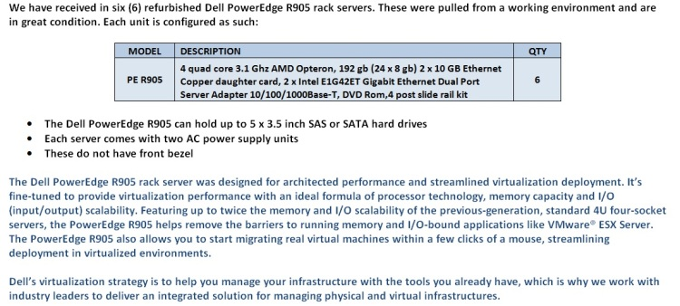 Dell PowerEdge R905 Servers For Sale Bottom (11.17.14)