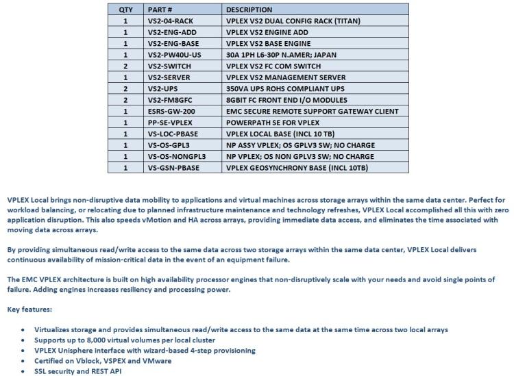 EMC VPLEX Storage Array For Sale Middle (11.12.14)