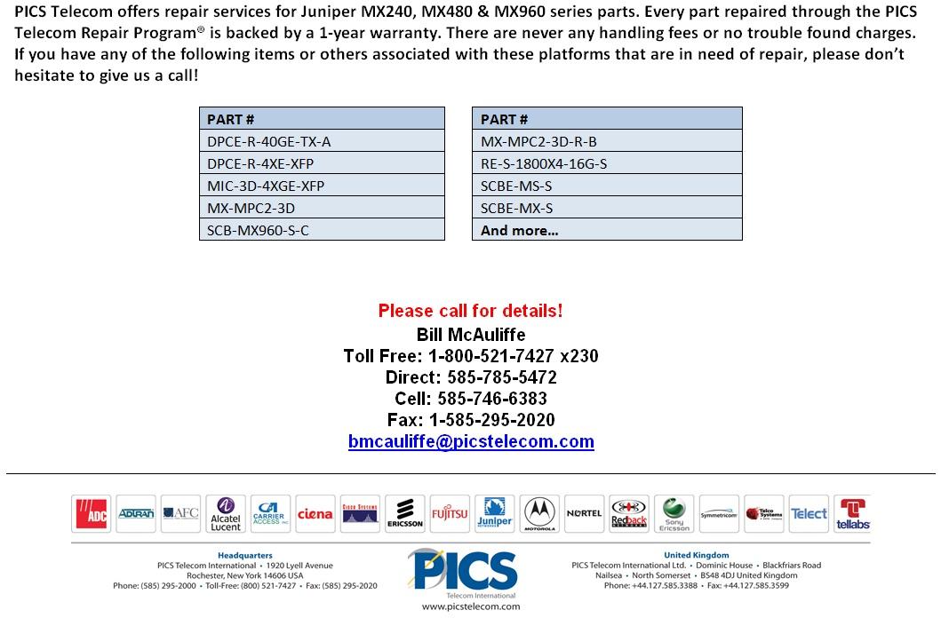 Juniper MX Series Repair For Sale Bottom (11.7.14)