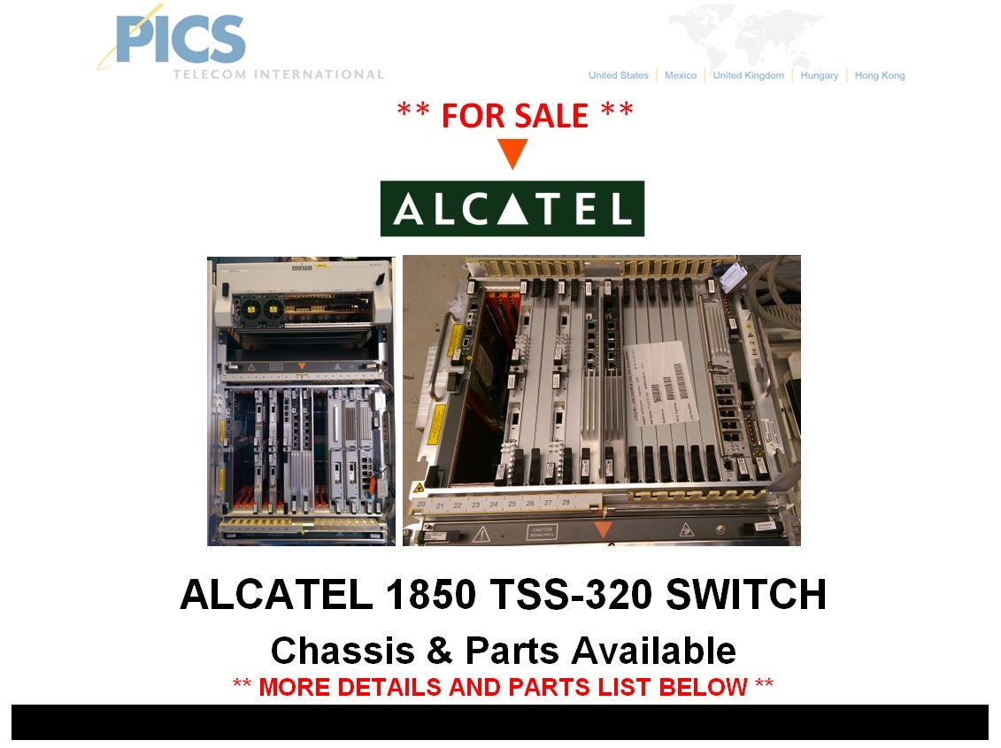 Alcatel 1850 TSS-320 Switch For Sale Top (12.3.14)