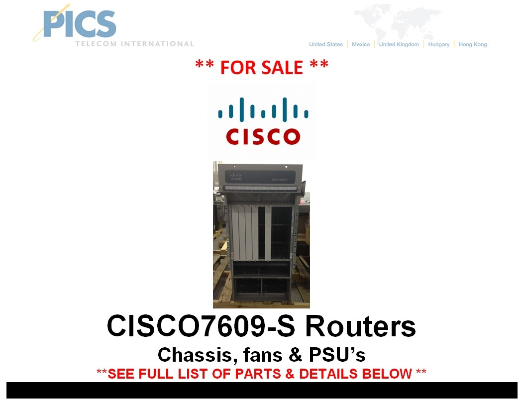 Cisco 7609-S Chassis For Sale Top (12.5.14)