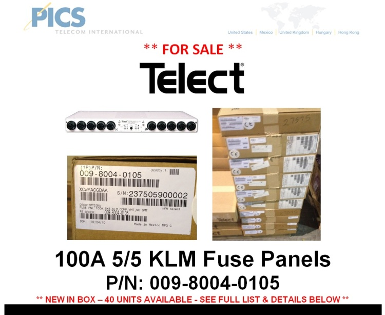 Telect 009-8004-0105 Fuse Panels For Sale Top (12.5.14)