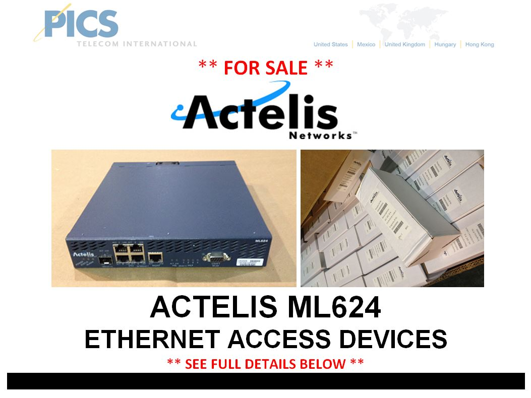 Actelis ML624 EAD For Sale Top (1.6.15)