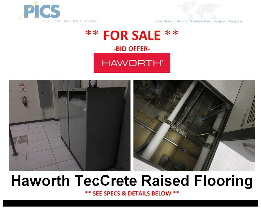 Haworth Raised Flooring For Sale Bid Top (1.7.15)