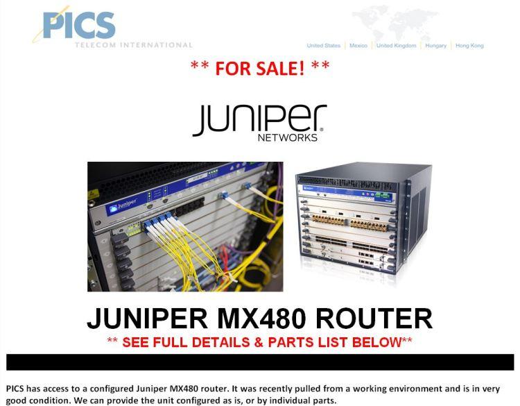 Juniper MX480 For Sale Top (1.6.15)