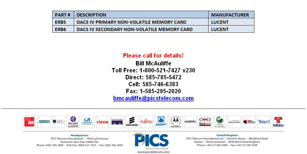 Lucent DACS IV ERB Cards Buy For Sale Bottom (1.15.15)