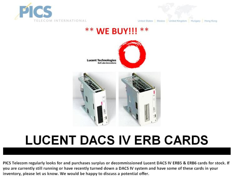 Lucent DACS IV ERB Cards Buy For Sale Top (1.15.15)