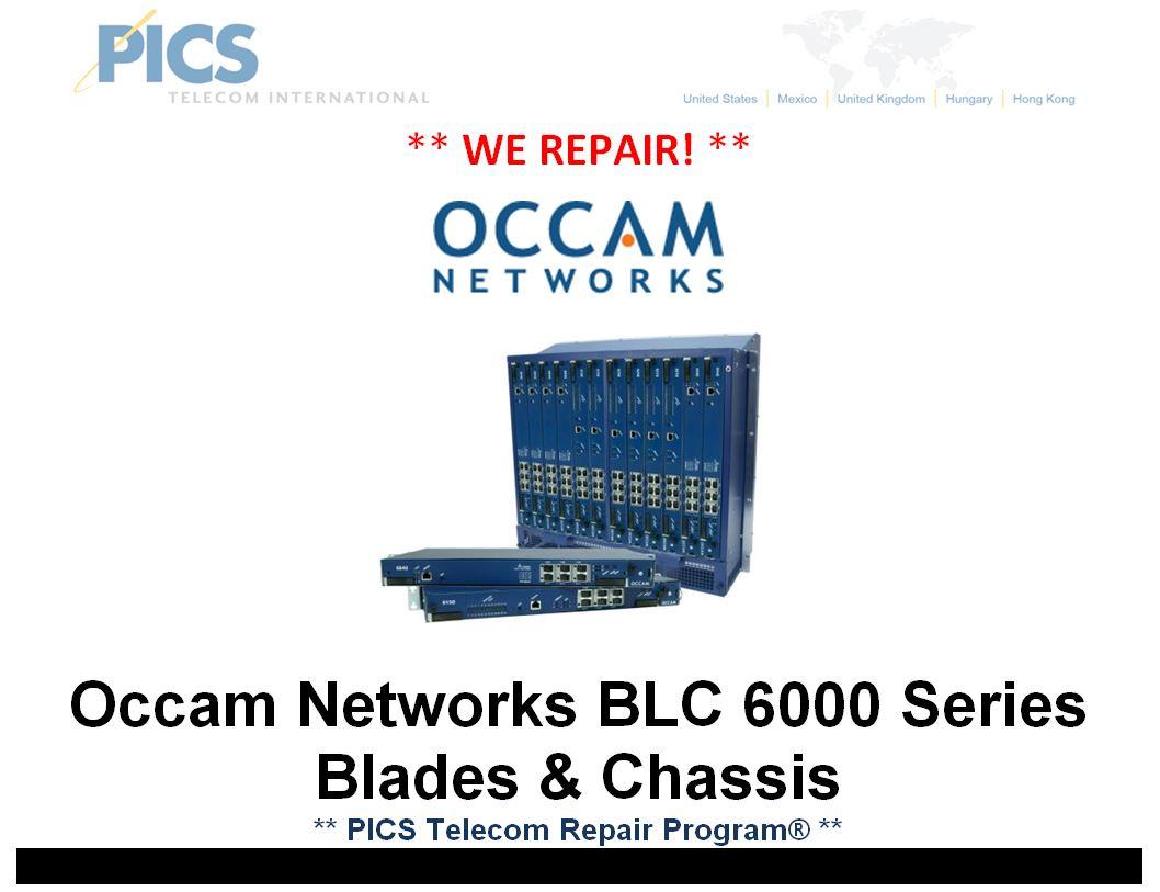 Occam BLC 6000 Series Repair For Sale Top (1.13.15)