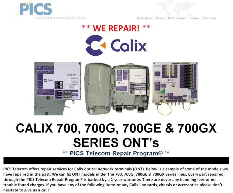 Calix 700 Series ONT Repair For Sale Top (2.26.15)