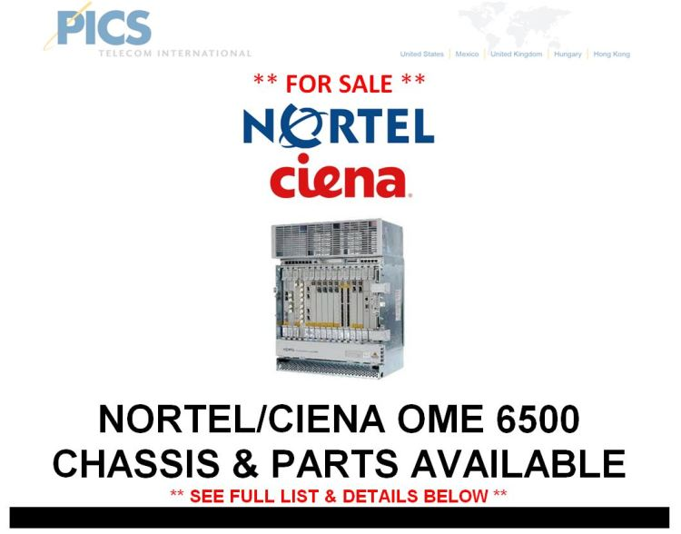 Nortel-Ciena OME 6500 Equipment For Sale Top (2.26.15)