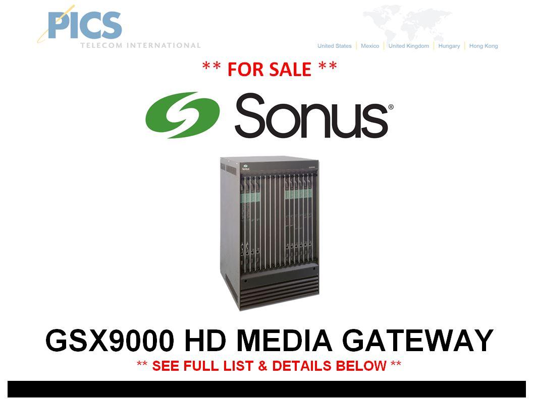 Sonus GSX9000 HD For Sale Top (2.19.15)