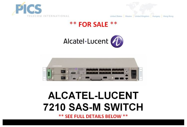 Alcatel-Lucent 7210 SAS-M Switch For Sale Top (3.13.15)