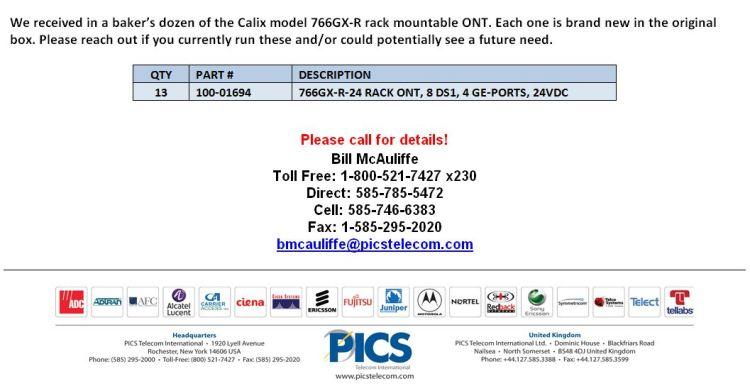 Calix 766GX-R Rack Mountable ONT For Sale Bottom (3.16.15)