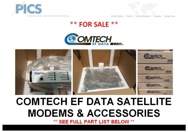Comtech EF Data Satellite Modems For Sale Top (3.17.15)