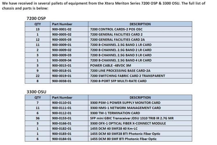 Meriton 7200 & 3300 Parts For Sale Bottom (3.12.15)