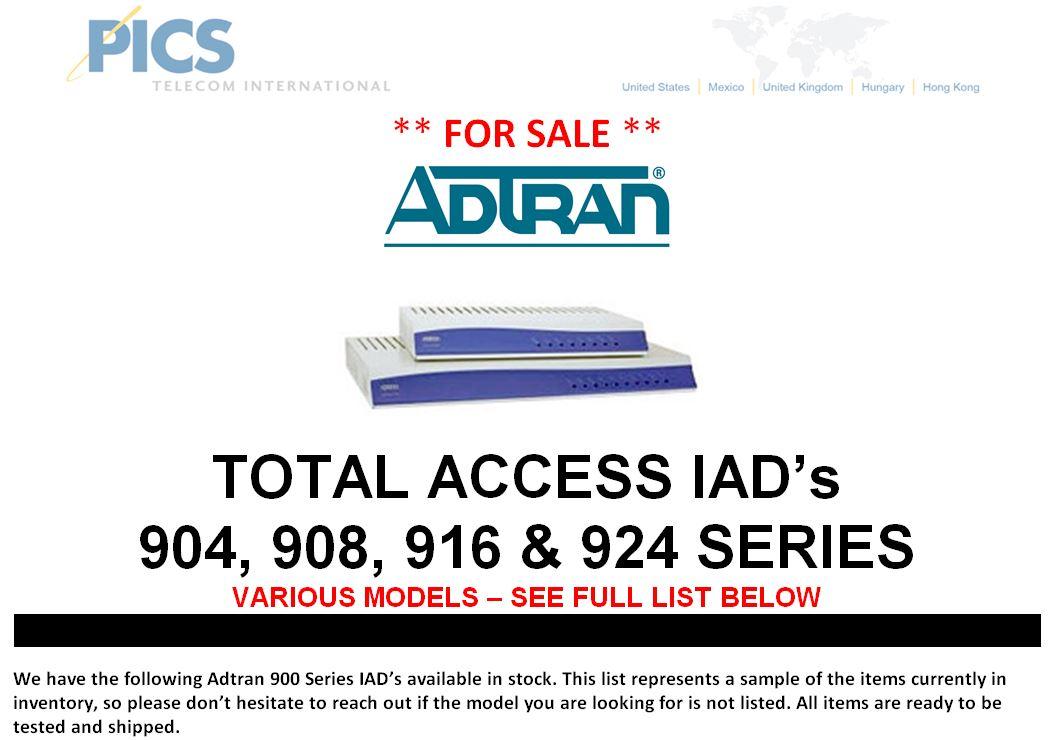 Adtran 900 Series IADs For Sale Top (4.3.15)
