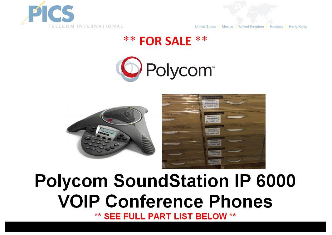 Polycom SoundStation IP 6000 Phones For Sale Top (4.24.15)