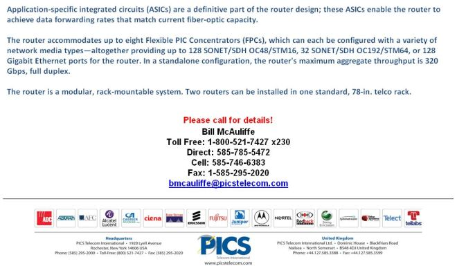 Juniper T640 Equipment For Sale Bottom (5.7.15) - Copy
