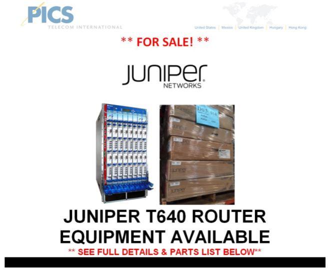 Juniper T640 Equipment For Sale Top (5.7.15)