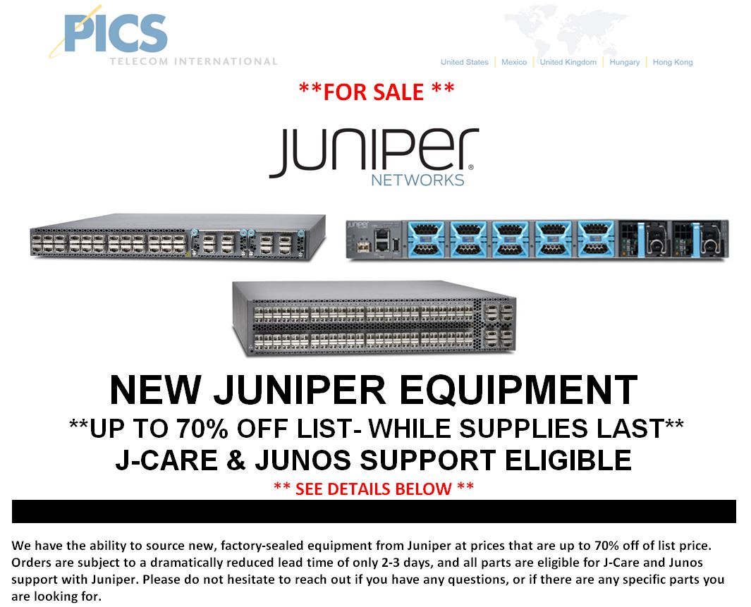 Juniper New Equipment 70% Off For Sale Top (6.10.15)
