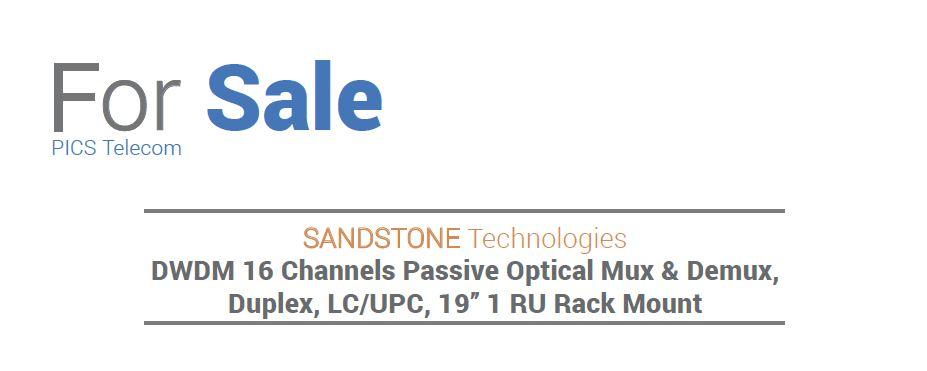 Sandstone DWDM Optical Mux & Demux For Sale Top (7.23.15)