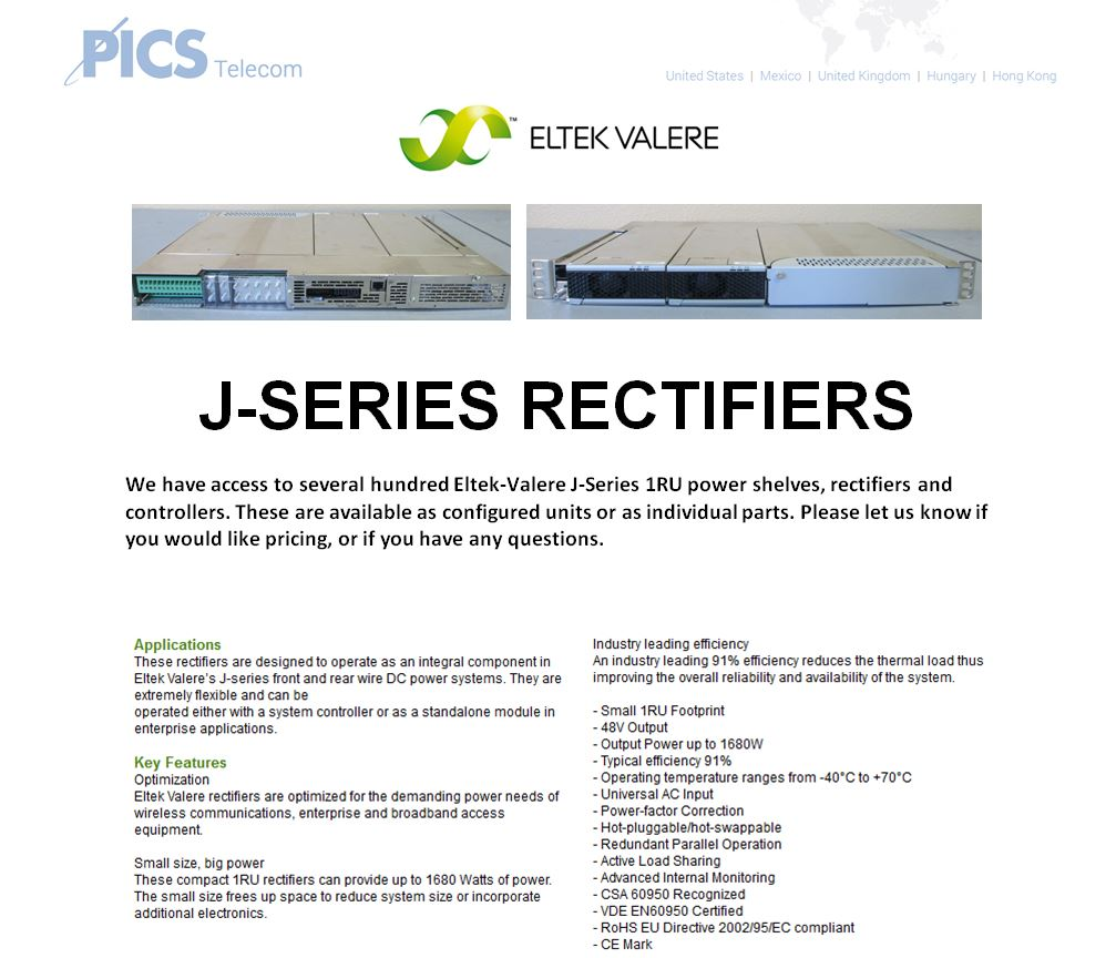 Eltek-Valere J-Series Rectifiers For Sale Top (8.26.15)