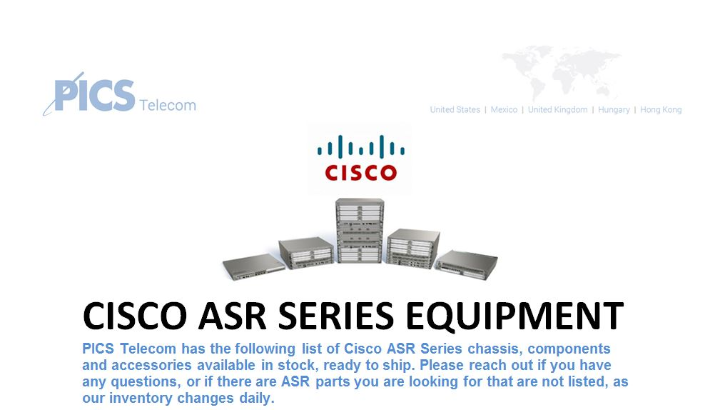 Cisco ASR Series Equipment For Sale Top (9.15.15)