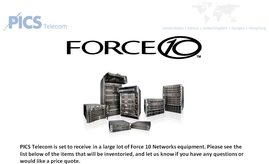 Force 10 Equipment For Sale Top (11.25.15)