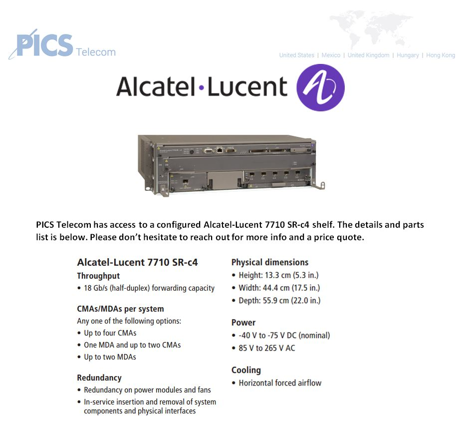 Alcatel-Lucent 7710 SR-c4 Top (12.2.15)