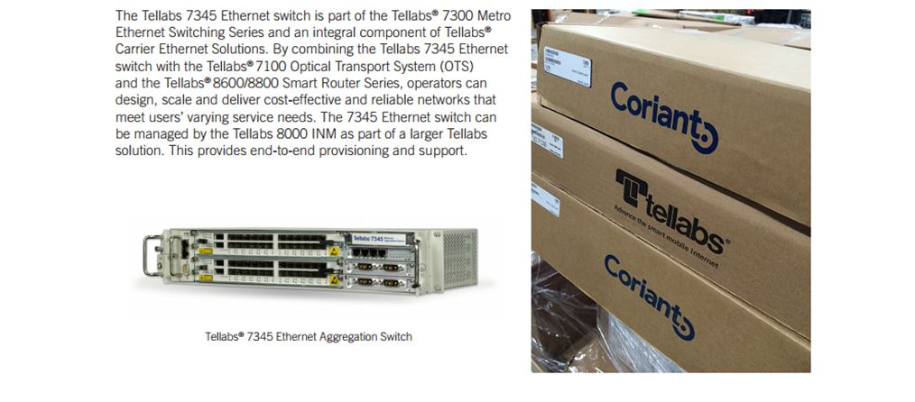 Tellabs-Coriant 7100 & 7345 For Sale Top 2 (3.8.16)