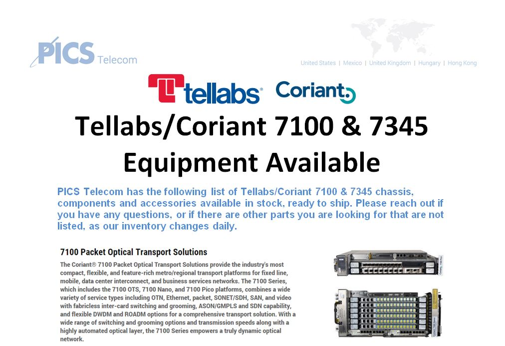 Tellabs-Coriant 7100 & 7345 For Sale Top (3.8.16)