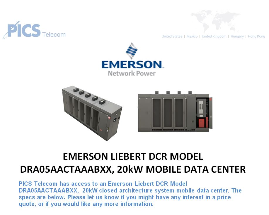 Emerson DCR Mobile Data Center For Sale Top (4.13.16)